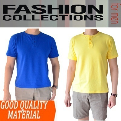 PREMIUM ELASTENE 100% COTTON ** Banded BUTTON TEES- SLIMFIT TSHIRT FOR MAN