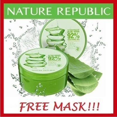 #beautysale BUY 3 BUNDLE OFFER: Stock In SG Nature Republic Smoothing Moisture Aloe Vera 92% Smoothing Gel