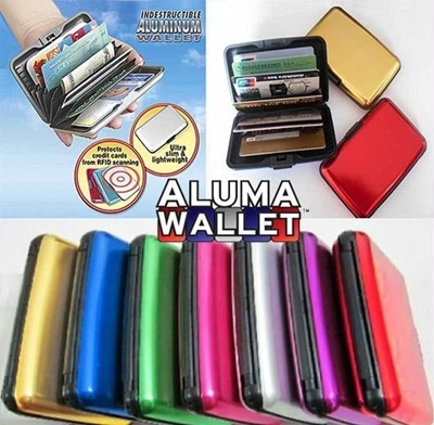 BUY 5,FREE SHIPPING!!!~JUMBO STORE New Arrival:♥Aluma Wallet Colour Card Holder Waterproof♥As Seen On TV♥ (Buy 4 with Skynet Shipping )