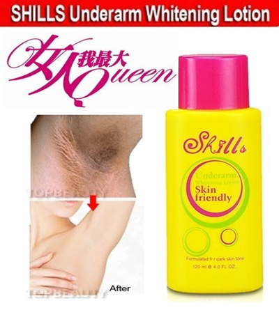 女人我最大  SHILLS Underarm Whitening Hydrating Lotion 120ml for Knee Leg Elbow Arms / Slows Down Hair Growth!