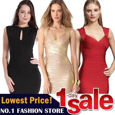 【GSS June New Arrivals】Sexy Slim Fit  Bandage Dress Evening Dress Bandage Blouse Bandage Skirt Bandage Top