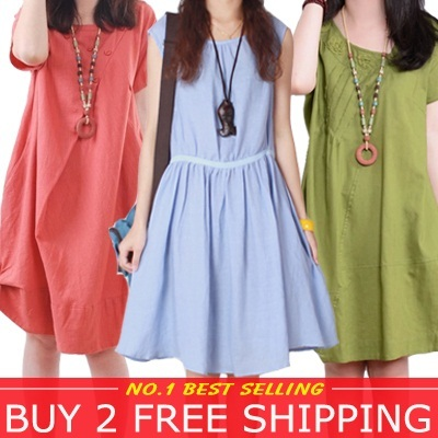 No Profit Summer Fashion Many Desigs New Arrival Linen Cotton Dress/shirt Japan Over 200 Styles High Quality