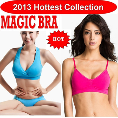 2013 Hottest Collection : 3D Seamless MAGIC Bra (2 Designs 7 Colours) 3D超彈力細肩帶無縫內衣 + 2 Optional Item