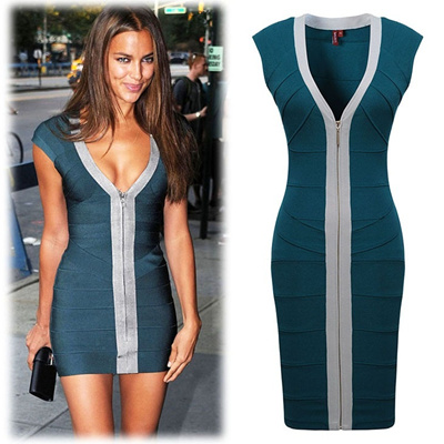 PE2038 Premium European Luxury Dress OL Celebrities Bridemaid Bodycon dress