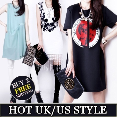 【19/4 Update】Hotest Style ! 【BUY 2 FREE SHIPPING】2014 New Arrival UK Dress T-Shirts Blouse【In-Stock fast delivery】