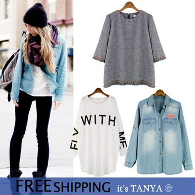 ★itstanya★New arrival/Best tshirt/K-star/Simple Loose Fit/Pant/Elegance/Work style/Korea fashion/Today hot item women fashion