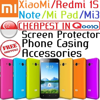 ★[50% OFF XiaoMi Case]★ Cheapest XiaoMi Mi Pad /RedMi 1S/ Mi3/ RedMi Note/ HongMi/ Red Rice Redmi/ Mi3 Screen Protector/ Phone Casing/ Battery/ Stocks Local in SG etc