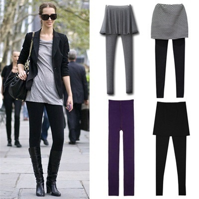 [Free shipping]Good quality skirt leggings thermal padding 80D napping tribal over 30 style legging