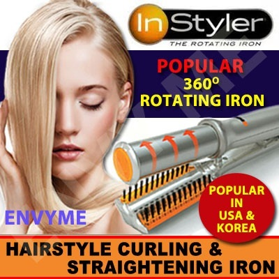 No.1 in USA and Korea: InStyler Hair 360 degree Rotating Iron Hair Curler - Straightener/ Digital Perm/ Curl [JACQUELINE]