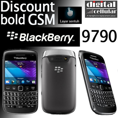 Blackberry Bellagio 9790 (bold) Touchscreen GSM Warranty Berrindo