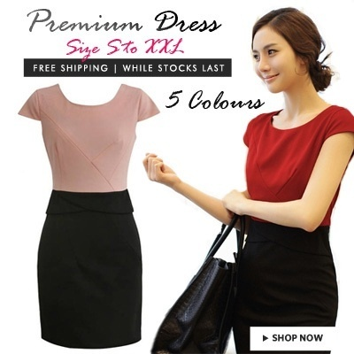 Premium office dress . 5 colours . 5 sizes . S to XXL