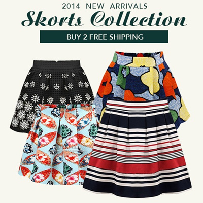BUY 2 FREE SHIPPING!2014 New Ladies Skirts Shorts Skorts Collection Pants