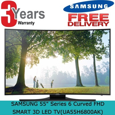 SAMSUNG 55in Series 6 Curved FHD SMART 3D LED TV(UA55H6800AK) - 3 years warranty + Free delivery