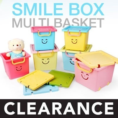 ★STOCK IN SG★ Korea Smile Box Multi Basket / Living Box / Multi basket / Big size Toy Box / Gfurnitu