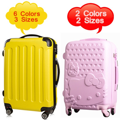 Luxury Luggage/Hello kitty luggage * FREE LUGGAGE COVER * EXTENDABLE * 20/24/28 inch * 3 sizes * 6 colors * Fashion+Sturdy construction ★BEST PRICE★