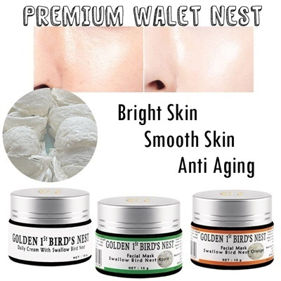 Daily Krim Walet dan Masker Walet*Anti Aging Smooth Skin*Try Now!