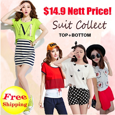 *Free Shipping*ALL IN 1 PRICE/2014 Top+Bottom Ladies Fashion European and American women clothes / suits