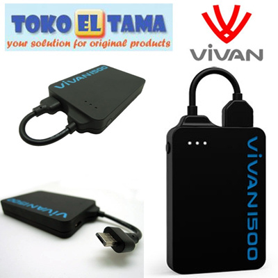 [Vivan Distributor] Vivan Powerbank Powerlock 1500mAh