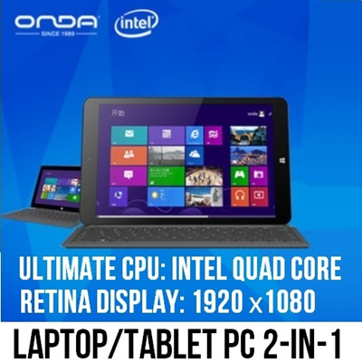 Onda 8.9inch Retina IPS Windows Tablet Ultrabook Tablet 2-IN-1 Laptop Computer Intel Quad Core 64 Bit CPU