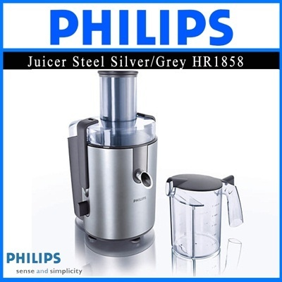 Philips Juicer Steel Silver/Grey 650W HR1858