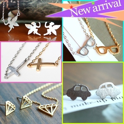 [ferryberry] Hot price~!! High quality 925 silver post plate earrings and necklace collection/