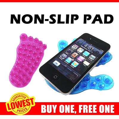 [BUY ONE FREE ONE] *Suction Cups Non Slip Dash Pad ** Can Be on Car Dashboard or bathroom ** GREAT D