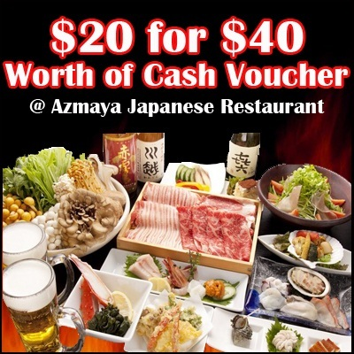 $20 for $40 Worth of Cash Voucher at Azmaya Japanese Restaurant. Very Good Ambiance with Authentic Japanese concept store. Open up to 4am in the morning!