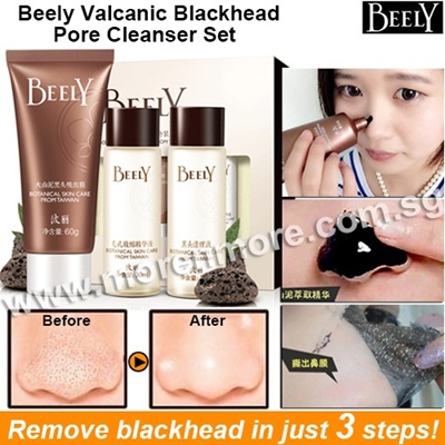 Beely Volcanic Blackheads Pore Cleanser Set/ Removes Blackheads in Just 3 Steps!