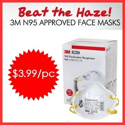 [Authentic 3M Brand] 3M N95 Approved Face Masks - Beat the Haze - Protect Your Love One.