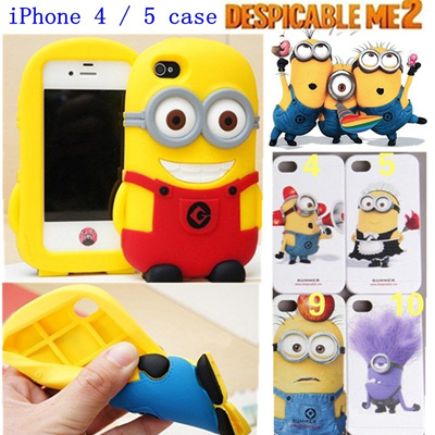T11 christmas sales!! Despicable me two popular iPhone 4 / 5 case ★Despicable Me Minion