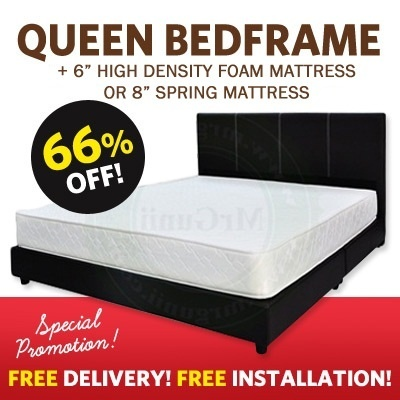 Queen Mattress + Queen Bedframe Set