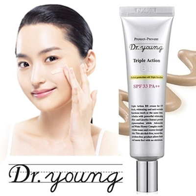 [Wqueenmall] Best Seller Dr Young Triple Action BB Cream / Pore Eraser Balm