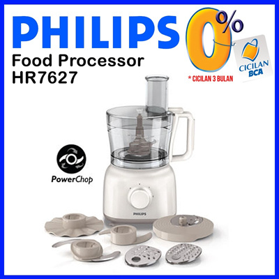 Philips Daily Collection Food processor HR7627 650W 2 speeds + pulse 2.1 L bowl Accessories for + 15 functions