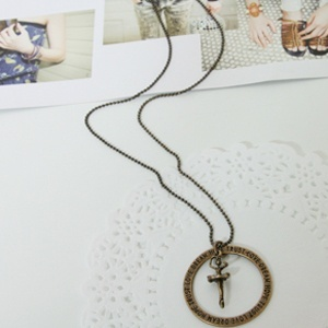 cute necklace/lovely/luxury/girlish/ribbon/star/flower/