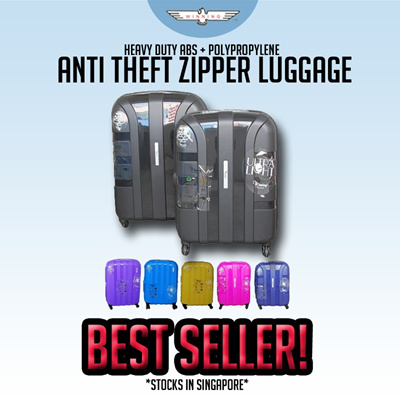 ★WINNING LUGGAGE★ BEST SELLER! HEAVY DUTY ABS + POLYPROPYLENE LUGGAGE WITH ANTI THEFT ZIPPER!
