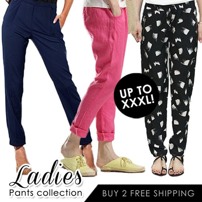 [Buy 2 Free Shipping] Plus Size Casual Pants/Harem Pants/Long Pants/Skinny Pants/Candy Colorful Pants/Women Fashion