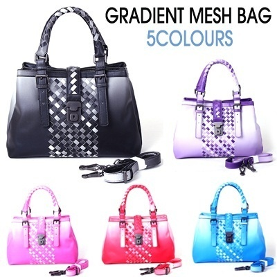 ★2014 Korea New Arrivals ★New bott roma gradient mesh bag★Multi Shoulder bag★Tote bag★Cross Bag★ Fabric with gradient pattern★Soft-Touch Feel Classic Design Handbag