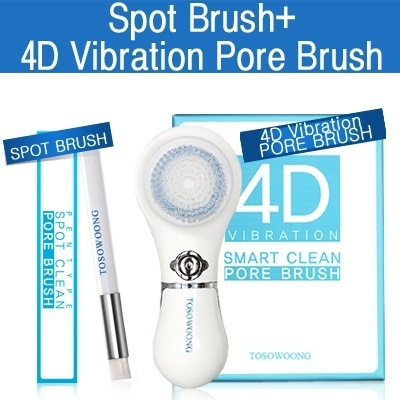 No.1 Pore Brush SET ★ [TOSOWOONG]Spin 4D Vibration Pore Brush + Spot Bush SET /pore cleansing brush