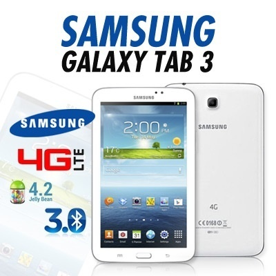 Best Price Samsung Galaxy Tab 3 7 inch LTE(4G) /  White Only / 1 Year warranty