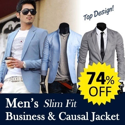 2013 Top design mens Business Casual SUIT Blazer COAT Leisure JacketBUY 2 FREE SHIPPING ・Promo OFF