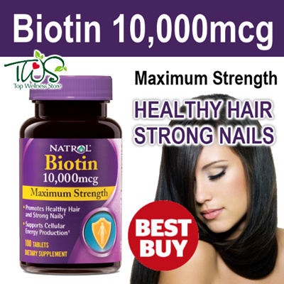 ★BEST DEAL!★ Natrol 10000mcg Biotin Maximum Strength for Healthy Hair and Strong Nails / READY STOCK