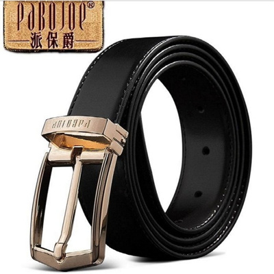 [PABOJOE] 100% Cowhide mens belt business casual belt Gift box