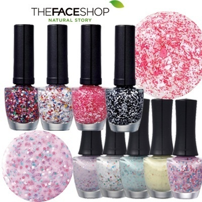 【THE FACESHOP】★New!! ★Lovely Mix Yogurt Nails / Colored Paper Nails / GEL TOUCH Nails / Paint nails