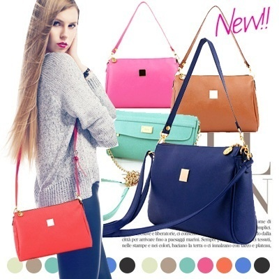 New Spring [free shipping] 2014! Bag 11 color ❤ stylish casual shoulder bag, kate simple style / chain handbag bag ★