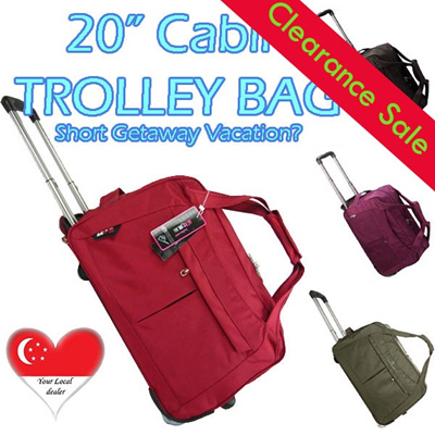 Premium Waterproof Cabin Size Travel Luggage Suitcase Trolley Rolling Bag 20 inches