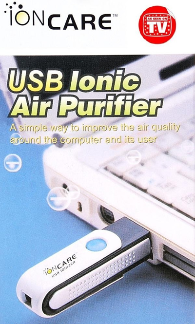 IONCare USB Ionizer Air Purifier - Mini And Portable To Be Carry Anywhere Great for travellers
