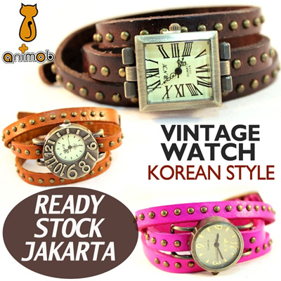 [Stock in Jakarta] Vintage Watches Korean Style