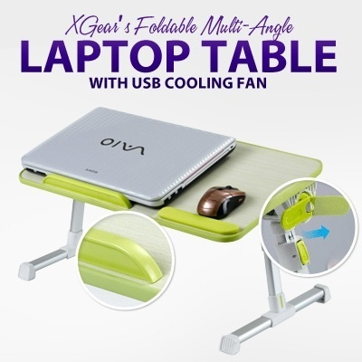 ~~Xgear~~Foldable Multi-Angle Laptop Table with USB Cooling Fan!  4 color available!!! Laptop/PC table/Gift/computer table/Portable Laptop Desk/Laptop Table/Laptop Table With USB Cooling Fan/
