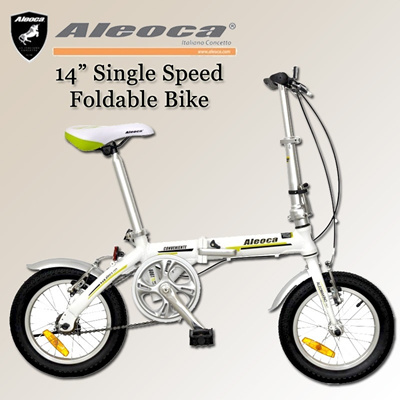 "[Aleoca]AB1401-CVS13 Convenient  14"" Single speed  folding Bike. 4 colors available"