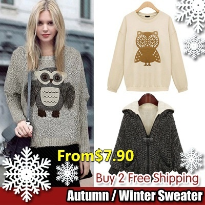 zara OWL cashmere sweater girls turtleneck ladies dress spring summer fall winter Korea style